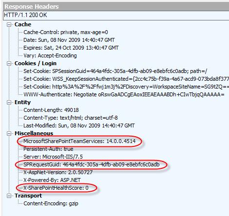 044dac6d5534f X-SharePointHealthScore  a new SharePoint 2010 HTTP header - Michel  Barneveld s Blog - Michel Barneveld